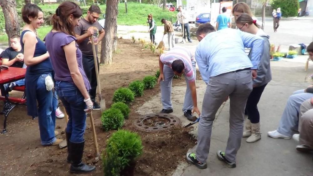 Donacija sadnica i uređenje okoline DB Čukarica